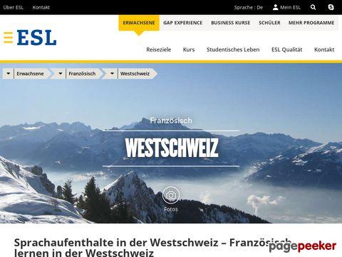 Sprachreise, Sprachaufenthalt in der Westschweiz