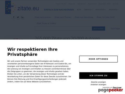 zitate.eu - 200.000 Zitate, Sprüche Aphorismen und Autoren