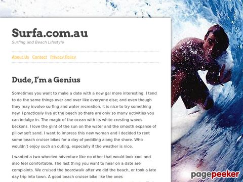 SurfA.com.au - your Online Surfing Magazine (Australia)