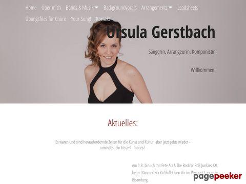 Ursula Gerstbach, Sängerin, Gesangsunterricht, Backgroundsängerin