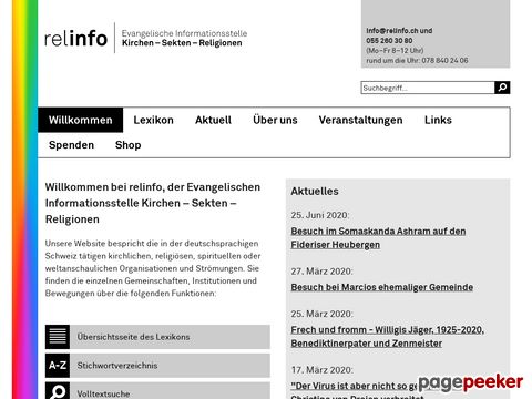 Relinfo.ch - Infos zu Kirchen - Sekten - Religionen