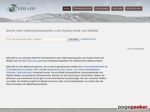 GEO-LEO - Die kostenfreie virtuelle Fachbibliothek für Montan- und Geowissenschaften