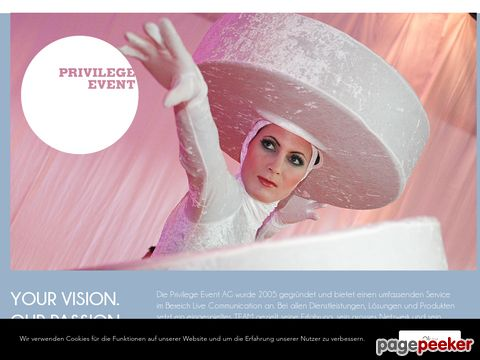 privilege-event.ch - Privilege Event GmbH
