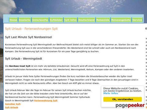 Ferienangebote Sylt Wenningstedt Vermietung
