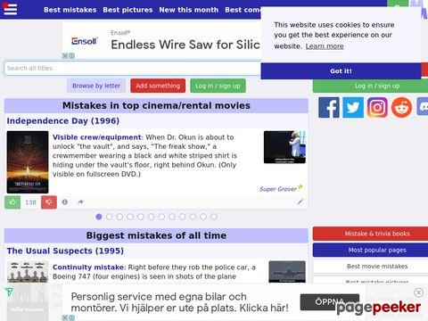 moviemistakes.com - Fehler in Filmen...
