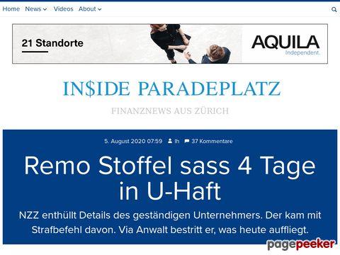 Inside Paradeplatz - Finanznews aus Zürich