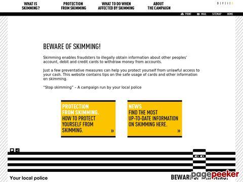 «Stop Skimming» – eine Kampagne Ihrer Polizei