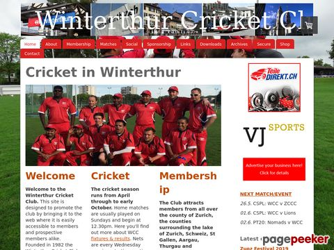 Winterthur Cricket Club (Zürich/Switzerland)