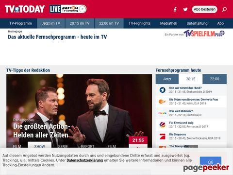 TV TODAY - Das Fernsehprogramm der Deutschen Sender