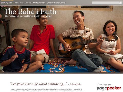 bahai.org - Internationale Bahai-Gemeinde (englisch)