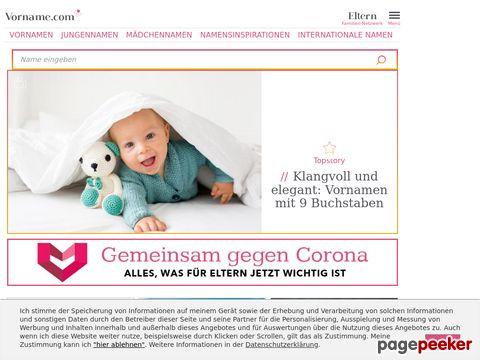 vorname.com - Vornamen und Kindernamen, Babynamen, Namenstag ...