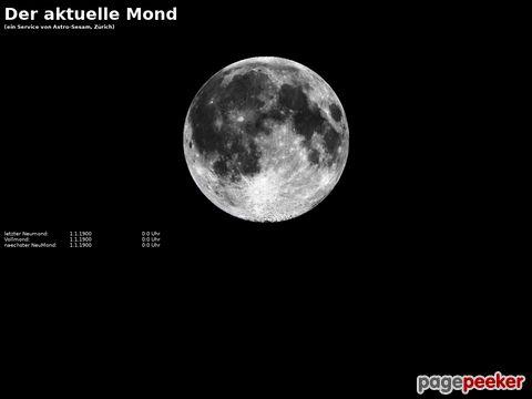 Astrosesam.ch - Aktuelle Mondphase Neumond, Vollmond, Leermond