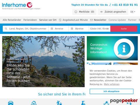 interhome.ch - Ferienwohnung und Ferienhäuser in der Schweiz , Europa und USA