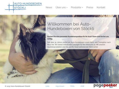 Auto-Hundeboxen von Stöckli
