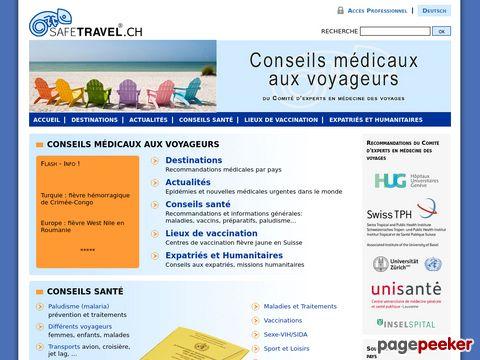 safetravel.ch - Medizinischer Ratgeber über Reiseziele !