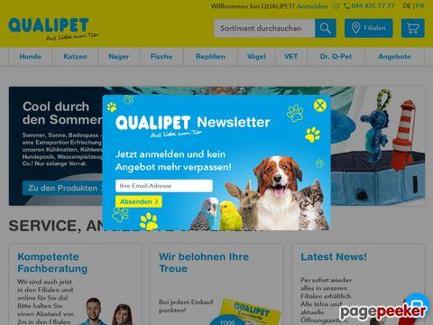 QUALIPET – DIE NR. 1 im Schweizer Zoofachhandel - Onlineshop