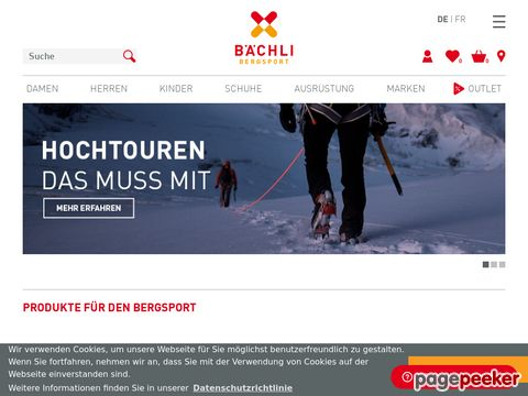 Bächli Bergsport AG - Onlineshop / Produktekatalog