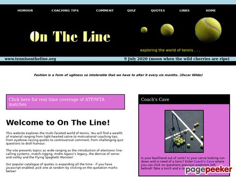 On The Line Tennis Magazine