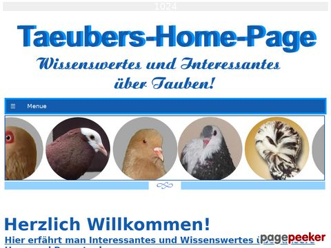 Taeubers Home Page:Taubenbuch-Index