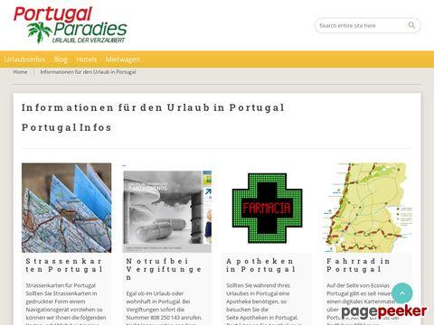 portugalparadies.de - Urlaub in Portugal - Vermittlung von Ferienhäusern, Ferienwohnungen, etc.