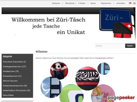 zueri-taesch.ch - Züri-Täsch - jede Tasche ein Unikat