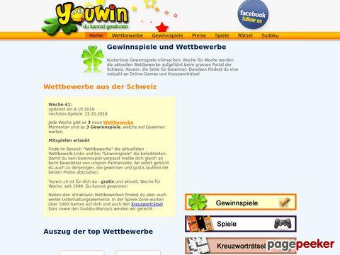 youwin.ch - Schweizer Gewinnspiele