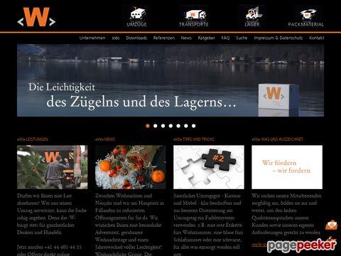W. Wiedmer AG, Transporte - Umzüge - Lagerhaus - Zügel-Shop
