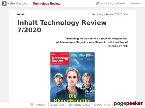 Technology Review - Online Magazin von Heise.de