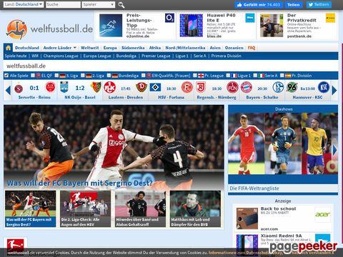 weltfussball.de - Fussball - Ergebnisse - News - Statistiken
