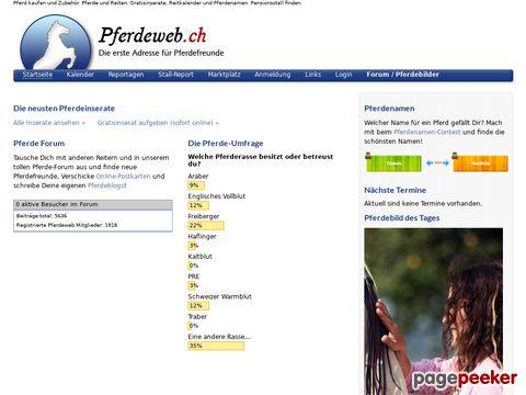 Pferdeweb.ch - Die erste Adresse für Pferdefreunde