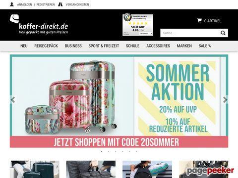 koffer-direkt.de - Voll gepackt mit guten Preisen!
