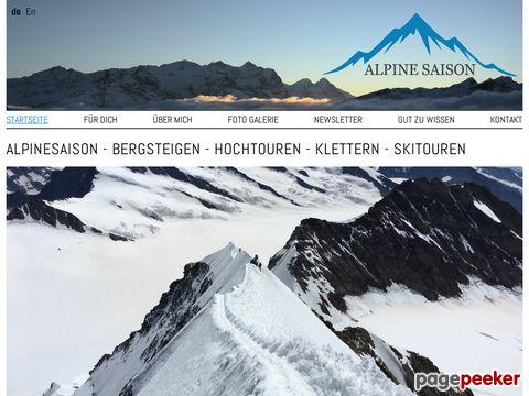 alpinesaison.ch - Skitouren Schweiz
