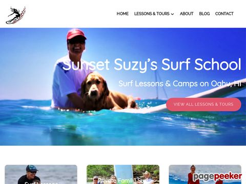Surfing Lessons - Surf Camps by Sunset Suzy - North Shore of Oahu, Hawaii