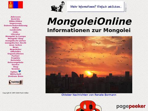 mongolei.de - Deutsches Mongolei Informationsportal