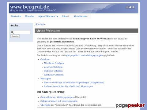 Alpine Webcams - Verzeichnis von Webcams in DE, AT und CH