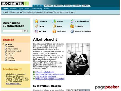 Suchtmittel.de - Infos über Sucht und Drogen