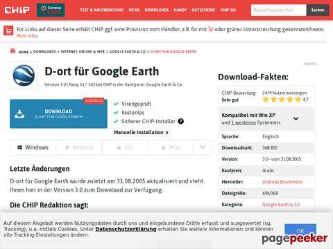 D-ort für Google Earth - Download - CHIP Online