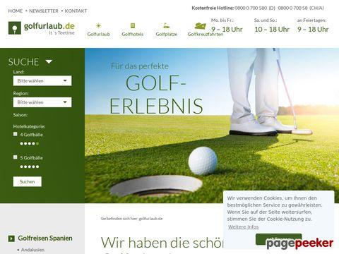 Golfurlaub.com: Golfreisen zu den schönsten Golfhotels - Golfurlaub auf dem Fairway