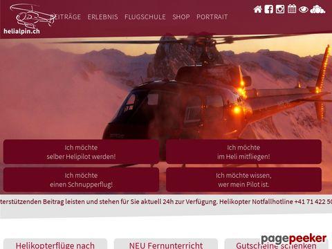 BB HELI AG, ZÜRICH  -  AUS FREUDE AM FLIEGEN