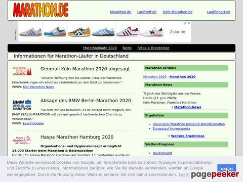 marathon.de - Marathon-Veranstaltungen in Deutschland