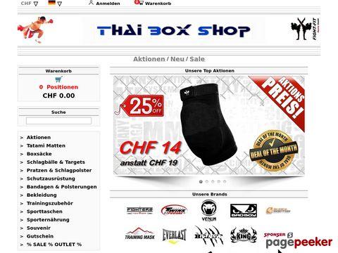 Thai Box Shop - Online Shop für Kampfsportartikel