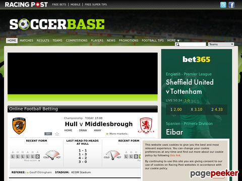 soccerbase.com - The Internet Soccer Database