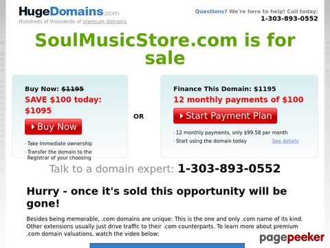 soulmusicstore.com - The Soul Music Store!