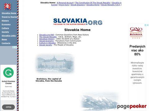 slovakia.org - Slovakia - FAQ
