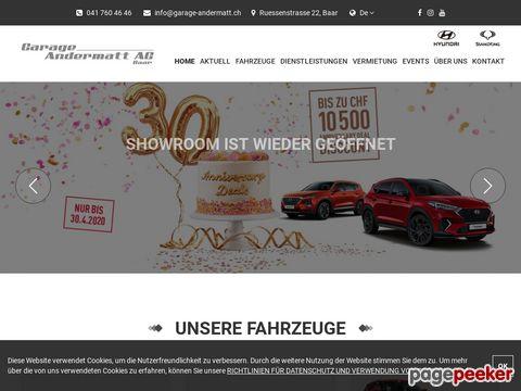 Garage Andermatt - Hyundai-Vertretung in Baar/ZG