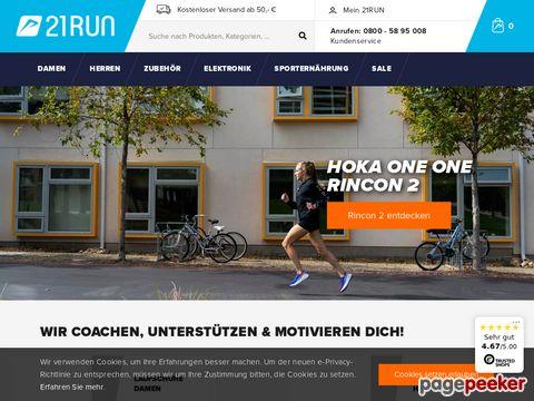 21run.com - Ihr Fachmann für Laufschuhe