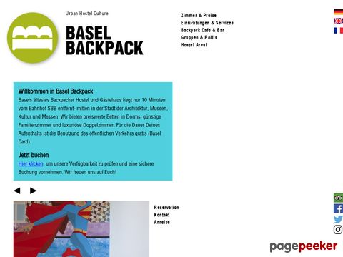 basel back pack/the cosy hostel in switzerland/WELLCOME