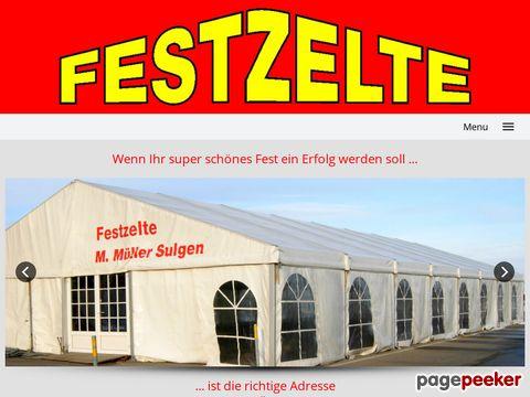 zeltmueller.ch - Müller Sulgen - Festzeltvermietung -
