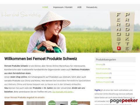 fernostprodukte.ch - Fernost Produkte Schweiz - Verkaufsportal für Fernost Produkte in der Schweiz, Deutschland, Österreich