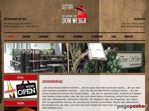 Bar. Restaurant. DonWeber - Zurich